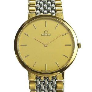 Genuine OMEGA Omega Deville Men's Quartz Watch Combi Design