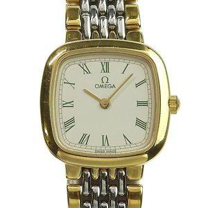 Genuine OMEGA Omega Devil Ladies Quartz Watch Combi Design