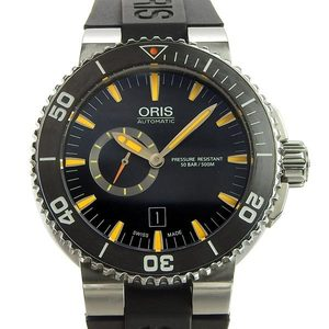 Genuine ORIS Oris Aquis Mens Automatic Watch Black Dial 7673