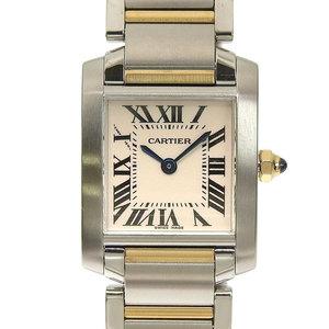 Authentic CARTIER Cartier Tank Francaise SM Combi Ladies Quartz Watch Model: W51007Q4
