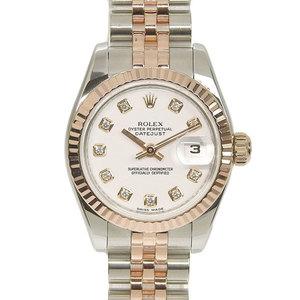 Genuine ROLEX Rolex Datejust Ladies Automatic Watch, model number: 179171G M number stand