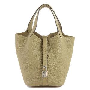 HERMES TRONY CLEMANS Picotan Lock PM Handbag Sage Bag Leather