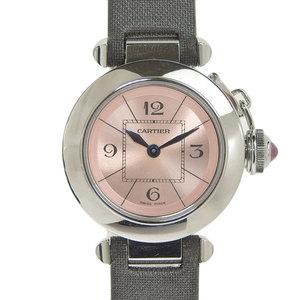 Authentic CARTIER Cartier Mispascia Ladies Quartz Watch Pink Dial W3140026