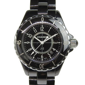 Genuine CHANEL Chanel J12 Black Ceramic Boys Quartz Watch