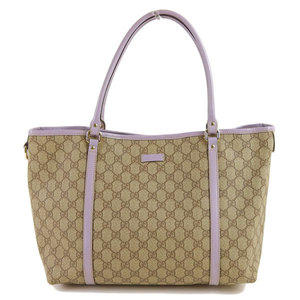 Genuine Gucci GG Plus Tote Bag Purple Beige Model: 197953 Leather