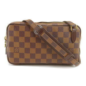 Genuine LOUIS VUITTON Louis Vuitton Damier Marly SPO Shoulder Bag Leather