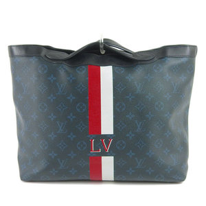 Genuine LOUIS VUITTON Louis Vuitton Monogram Ultralight 2WAY Tote Bag Cobalt Leather