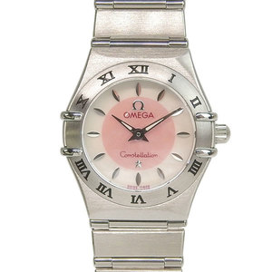 Genuine OMEGA Omega Constellation Mini Ladies Quartz Watch Shell Dial Japan Limited Edition Model: 1562.83