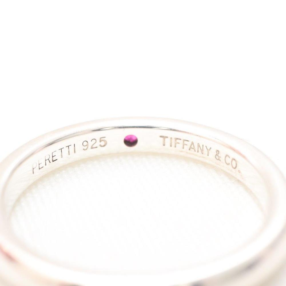 ティファニー (Tiffany) スタッキング バンドリング スターリングシルバー925 カジュアル ルビー 指輪・リング シルバー