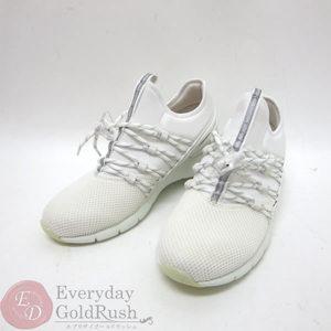 LOUIS VUITTON Running Shoes Nylon 5 1/2 White Women