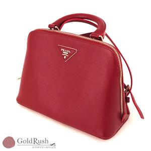 PRADA Safiano wine red 2WAY bag 1BZ003 rucksack handbag