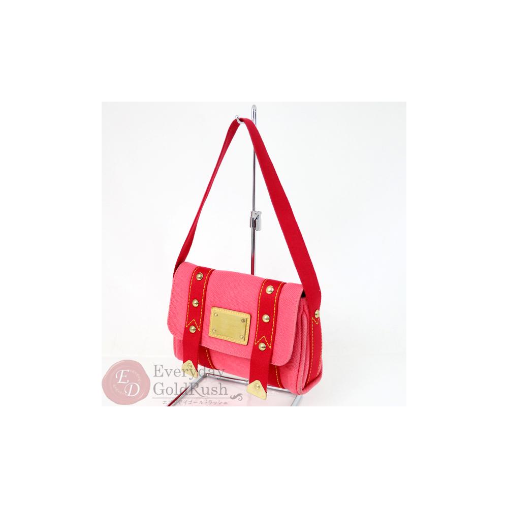 wide varieties classic style great deals 2017 LOUIS VUITTON Andigua Sac Lava M40071 Shoulder Bag Canvas Rose Pink |  eLady.com