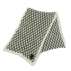 CHANEL CHANEL 2016 Products Cashmere 91% Lame Yarn Tweed Matras Pattern Long Muffler Stole