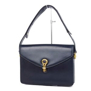 e29b46fb7887 Old Gucci GUCCI Lapis Lazuli Stone Shoulder Bag Dark Navy Gold Ladies  Italian Vintage
