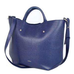 Furla FURLA Leather 2way Shoulder Bag Handbag Ladies Navy-based