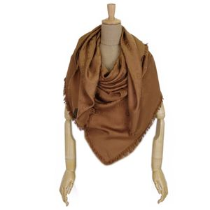 Louis Vuitton LOUIS VUITTON Italian-made silk wool monogram large format stall muffler shawl Brown Ladies M71338