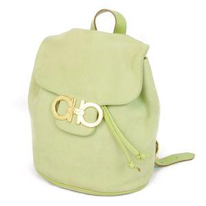 Salvatore Ferragamo Nubuck Leather Gancini Backpack Daypack Ladies' Bags
