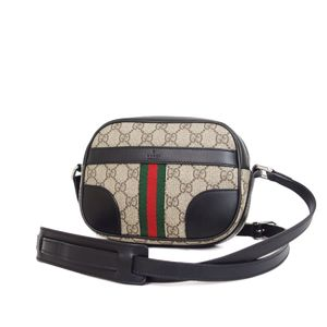1dc9cb360842 Gucci GUCCI GG Supreme Shelly Line Diagonal Shoulder Bag Beige Black Ladies  Men's Allowed Made in
