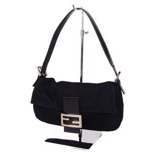 Fendi FENDI Made in Italy Ladies Jersey Mamma bucket Shoulder bag Black Bag 鞄