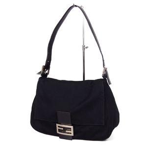 Fendi FENDI Italian Ladies Jersey Mamma Bucket Shoulder Bag バ ッ グ Black