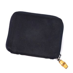 337f9dd4bcc364 Gucci GUCCI Round zipper wallet Bamboo canvas made in Italy Ladies Navy