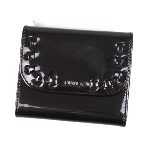 Furura FURLA Patent leather tri-fold wallet Compact with storage bag Women's