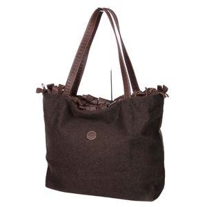 Fendi FENDI Reversible Tote Leather Wool Women's Brown Bags