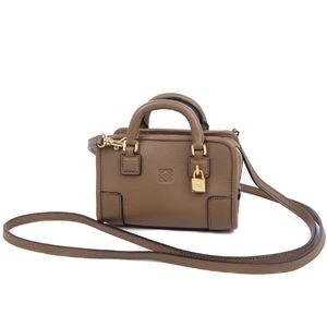 Loewe LOEWE Micromini Amazona Shoulder Pouch Spanish Brown Ladies Mini Bag