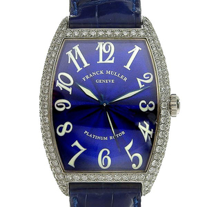 Genuine FRANCK MULLER Frank Muller K18WG Tonocar Bex's Diamond Bezel Men's Automatic Wrist Watch Model: 2852 SCD