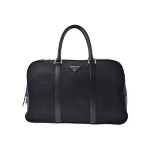 Prada Boston Bag Black Men's Women's Nylon / Leather B Rank PRADA Used Ginzo