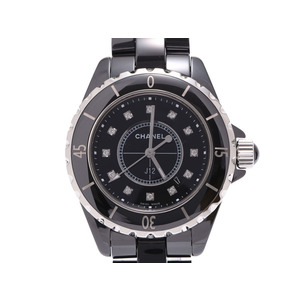 Chanel J12 33mm Black Dial 12P Diamond Men's Ladies Sera Quartz Watch A Rank CHANEL Used Ginzo