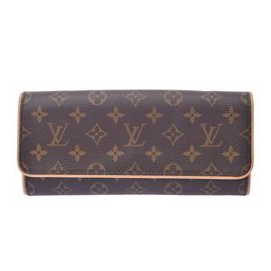 ルイ・ヴィトン (Louis Vuitton) ルイヴィトン モノグラム ポシェット ツインGM ブラウン M51852 レディース 本革 バッグ Aランク LOUIS VUITTON 中古 銀蔵