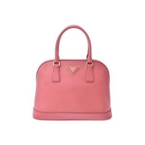 Prada 2WAY handbag pink BN2567 Ladies Safiano B rank PRADA Galla strap with used Ginzo