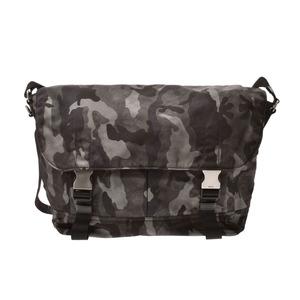 Prada Shoulder Bag Camouflage Gray VA0869 Men's Women's Nylon A Rank Beauty Product PRADA Used Ginzo
