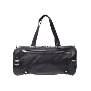 Saint Laurent 2WAY Boston bag Black SV bracket Men's Ladies Calf A rank good item SAINT LAURENT strap Used Ginzo