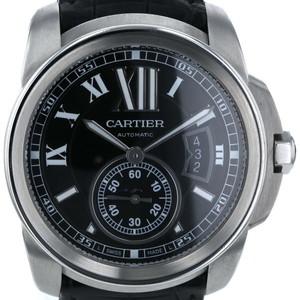カルティエ CARTIER カリブル ドゥ カルティエ Calibre de Cartier W7100041 自動巻式 ブラック 文字盤 メンズ 腕時計  iw mo