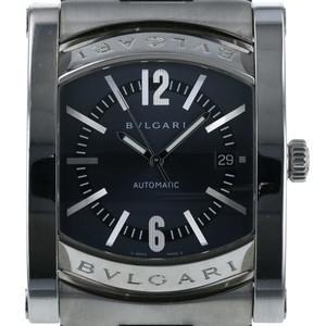ブルガリ BVLGARI アショーマ AA48S 自動巻式 ネイビー メンズ 腕時計  iw mo
