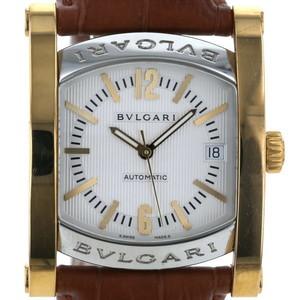 ブルガリ BVLGARI アショーマ AA44S SS YG 自動巻き アイボリー  腕時計  iw mo