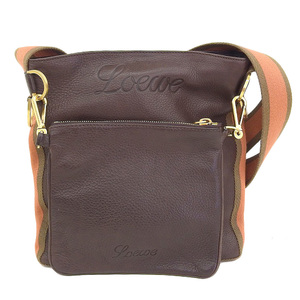 Loewe LOEWE Shoulder Bag Leather Brown Gold Hardware