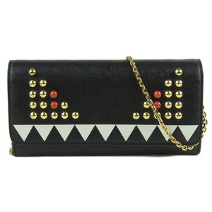 Fendi FENDI Bugs Monster chain wallet long black 8M0365