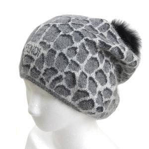 d32ebc5c Fendi FENDI Fox fur pom hat Hat mohair × alpaca mixed gray