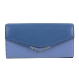 Fendi FENDI toujour continental wallet long blue 8M0306