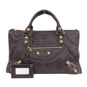 Balenciaga BALENCIAGA The giant work handbag leather brown 173080