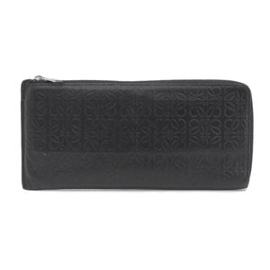Loewe LOEWE L-shaped zipper Long wallet Leather Black Women