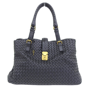 Bottega Veneta BOTTEGA VENETA Intrecherto Tote Bag Leather Black 171265