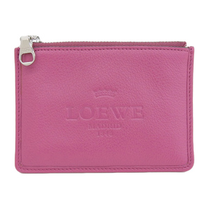 Loewe LOEWE coin case leather pink