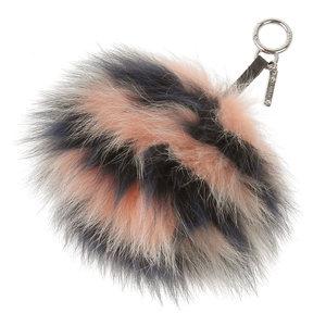FENDI FENDI border fur charm fox pink 紺 brand accessories 7AR259