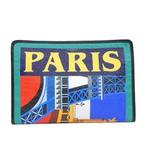 Balenciaga BALENCIAGA Bazar clutch bag leather 44658