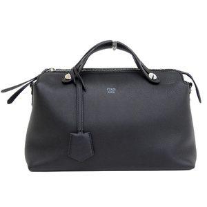FENDI FENDI By The Way 2WAY Handbag Black Silver Hardware Women