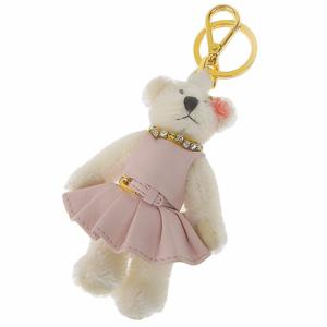 Prada PRADA Bear Bag Charm White Pink